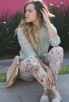 Pajama floral pants