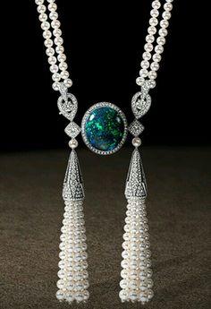 pearl, diamonds