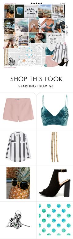 """""""Can you believe that we're in love with each other?"""" by delicatekissestoloki ❤ liked on Polyvore featuring Talli, Valentino, Fleur du Mal, Jadicted, Crate and Barrel, Free People, Bamboo and taengoostravellinglove"""