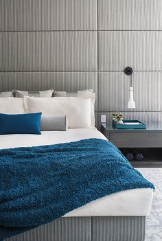 Beautiful bedroom colours! Lesli Balagno and Joel Trigg of Heffel Balagno Design
