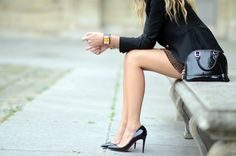 classic heels & purse.