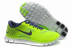 cheap for discount 79e4e 736a4 New Fluorescence Green Deep Purple Mens Nike Free Free Running Shoes
