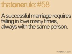 a successful marriage..