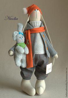 Игрушки животные, ручной работы. Ярмарка Мастеров - ручная работа Зайчишка -мальчишка  Nicolia. Handmade.