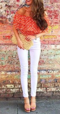 Your Style With Me: White pants are definitely a Spring and Summer mus...
