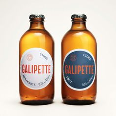 Galipette Cidre by Werklig, Finland. #branding #cider #packaging