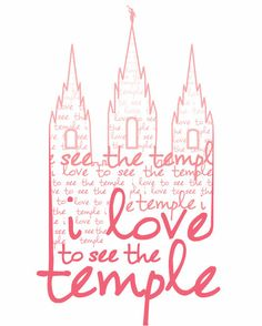 I Love to see the Temple Print by nataliemaree on Etsy, $10.00