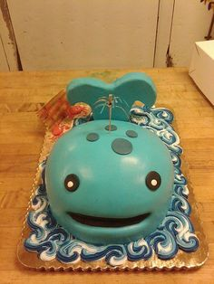 Whale birthday cake by Great Dane Baking Company