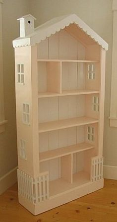 Dollhouse Large Bookcase 6 Ft High Solid Wood 30 Paints Stains Cottage Style New