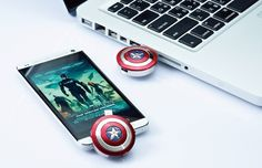 Captain America Shield Stick / Steve Rogers nearly indestructible shield could now become your USB support as this Captain America Shield Stick heads its way. http://thegadgetflow.com/portfolio/captain-america-shield-stick/