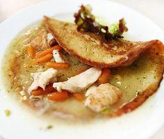 Denné menu Vranov | Kuracie rezance so zeleninkou v zemiakovej placke - reštaurácia Hotel Patriot*** #hotel #restauracia #dennemenu