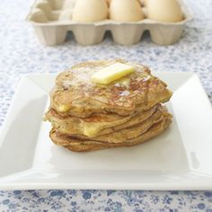 Coconut Flour Apple Pancakes