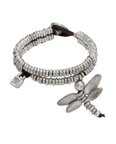 Dragon Fly Bracelet Uno De 50 Pam Bracelet  PUL0612  Pam  Women's silver plated bracelet with double strand of little balls, dragonfly and padlock Brighton, Bracelets, Turquoise Bracelet, Designer Dresses, Jewelery, Jewelry Accessories, Fashion Outfits, Silver Jewelry, Lovely Things