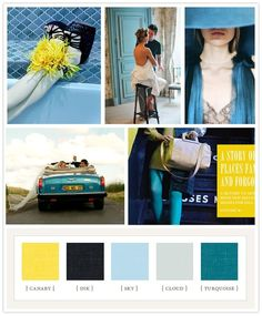 Yellow and blues