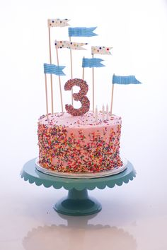 Sprinkle Cake - My now-three-year-old daughter requested a sprinkles themed birthday.  Yes!  Best theme ever!  This was a very different style than I usually make, but so much fun!