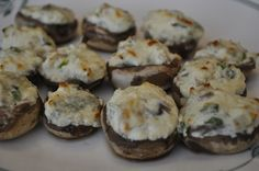 Stuffed mushrooms with blue cheese- Amazing, they are the best in the summer on the grill :)