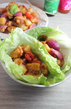 Gluten Free PF Changs Sweet and Sour Chicken Lettuce Wraps