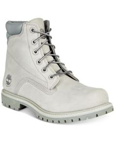 Timberland Women's Waterville Waterproof Boots, Created for Macy's - Gray 5.5M