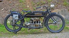 """Wheels Through Time Photo of the Day- """"Henderson Endurance Racer"""". In 1917, the Henderson Motorcycle Company hired Maldwin Jones to attempt a 24-hour endurance record attempt aboard this one-of-a-kind model. Eighty years later, Dale piloted the machine from L.A. to New York in 6 days and 4 hours, re-breaking a record set in 1917 aboard a similar bike."""