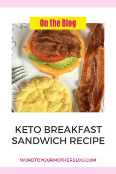 If you're looking for an easy low-carb breakfast that you can grab and go, look no further than this keto breakfast sandwich recipe! Loaded with flavor, this filling protein-packed breakfast is full of healthy fats with only 4 net carbs. #wtym #keto #healthy #breakfast #ideas #eggs Healthy Recipes For Weight Loss, Good Healthy Recipes, Healthy Fats, Easy Recipes, Healthy Snacks, Low Carb Breakfast Easy, Protein Packed Breakfast, Breakfast Ideas, Low Carb Quiche