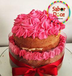 Naked cake todo rosa