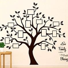 Timber Artbox Beautiful Family Tree Wall Decal with Quote - The Only Décor You Need for Living Room &. Timber Artbox Beautiful Family Tree Wall Decal with Quote - The Only Décor You Need for Living Room &. Tree Wall Painting, Creative Wall Painting, Tree Wall Art, Wall Art Decal, Wall Painting For Bedroom, Tree Wall Murals, Family Tree Photo, Family Tree Art, Family Tree Wall Decal
