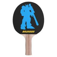 Giant Robot Cyborg Warrior Manga Ping Pong Paddle