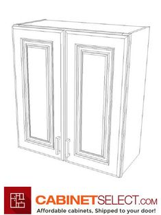 """Buy Sterling Grey Shaker Cabinets   Online RTA Cabinets   CabinetSelect CS-SG-W2430: Sterling Shaker 24″ Double Door Wall Cabinet SKU: CS-SG-W2430 Width: 24""""   Height: 30""""   Depth: 12"""" List Price: $ 252.24 Our Price: $ 212.72 You Save: $39.52 - 15.67% OFF #kitchencabinets #cabinets #2020 Rta Kitchen Cabinets, Shaker Cabinets, Vanity Cabinet, Cabinet Doors, Concealed Door Hinges, Sterling Grey, Mdf Doors, Plywood Boxes, Base Moulding"""