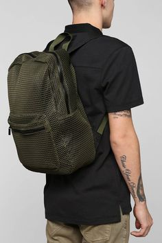 Urban Outfitters Feathers Loose Mesh Backpack on shopstyle.com