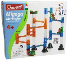 Amazon.com: Quercetti 45-Piece Transparent Marble Run - Marble Run Construction Toy: Toys & Games