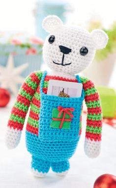 Gift card teddy Crochet Pattern