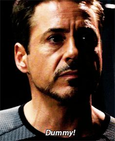 Dummy! || Tony Stark || Iron Man 3 || 245px × 300px || #animated #quotes