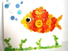 Fish Button Canvas