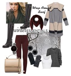 """""""Winter Essentials Sweaters & Scarves"""" by paolacaligirl ❤ liked on Polyvore featuring Vince, Prada, J Brand, Belstaff, Faliero Sarti, American Vintage, Skagen, Givenchy, women's clothing and women"""
