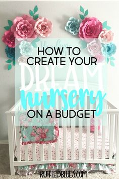I wanted the perfect floral nursery for my baby girl, but I didn't want to have to break the bank to get it. Here's how I created my dream nursery on a budget.
