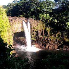 #rainbowfalls am Morgen sogar einen gesehen. 😀 #hawaii #bigisland #wasserfall #waterfall #regenbogen