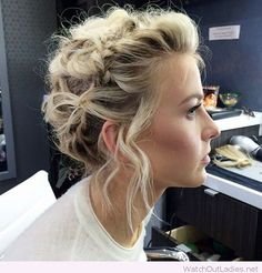 Lovely braided, undone updo