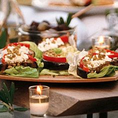 Eggplant with Bell Pepper, Feta, and Green Olives recipe | Epicurious.com