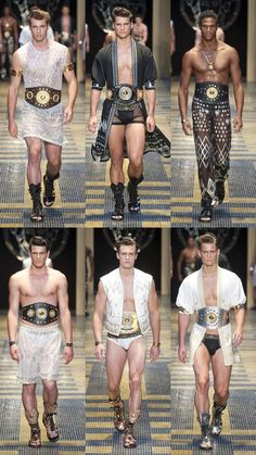 Versace has done lost its mind again, and I think its ridiculously fabulous. Versace Menswear Spring 2013 Collection