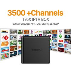 53.34$  Watch now - http://alibxw.shopchina.info/go.php?t=32805509717 - T95X IPTV STB Android TV Box TV Receivers HD 3500+Live Channels Europe iptv italia French Subscription 1 year Arabic Set-top Box  #buychinaproducts