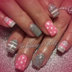 Pink and silver - Nail Art Gallery