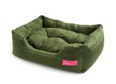JOULES GREEN TWEED SNUGGLE BED  - DOG BED puppy pet bedding