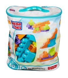 Amazon.com: Mega Bloks Big Building Bag, Trendy (80 Piece): Toys & Games | @giftryapp