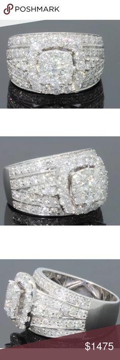 Spotted while shopping on Poshmark: Amazing 3 carat 10k white gold diamond ring! #poshmark #fashion #shopping #style #Jewelry
