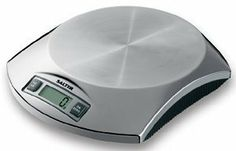 "Salter Digital Scale - Stainless Steel by Salter. $60.00. Capacity: 5 pounds/2 kilograms with 0.1 ounce/1 gram precision. Dimensions: 7¾""L × 6¼""W × 1½""H. This electronic kitchen scale has a high-precision strain-gauge weight sensing system, an easy-.... Sold individually. Colour/Pattern: Stainless steel. This electronic kitchen scale has a high-precision strain-gauge weight sensing system, an easy-to-read digital display, Imperial/metric conversion switch, low battery indica..."