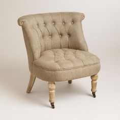 One of my favorite discoveries at WorldMarket.com: Flax Vanity Chair