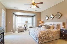 Beige And White Master Bedroom