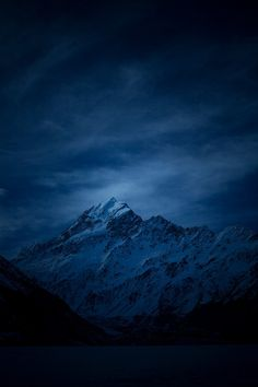 Photograph Aoraki Blue by Rob Dickinson on 500px -- Mt Cook in the blue hour pre dawn one cold and frosty winter morning.