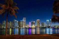 Downtown Miami at Night is as the pic shows. Beautiful as can be!