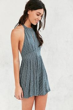 UrbanOutfitters.com: High Neck Playsuit with Strap Back - Size S I think.